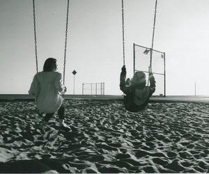 friends, beach, and balance image