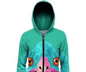 bird, green, and hoodie image