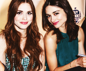 crystal reed, teen wolf, and holland roden image