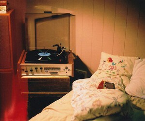 vintage, bed, and film image