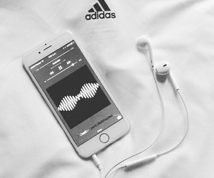 adidas, iphone, and music image
