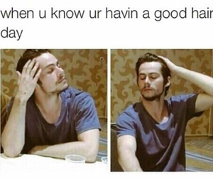 dylan o'brien, hair, and funny image