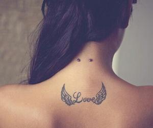 black, piercing, and wings image