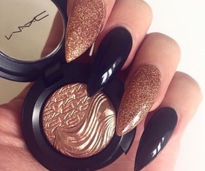 nails, mac, and makeup image