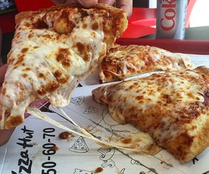 pizza, cheese, and delicious image