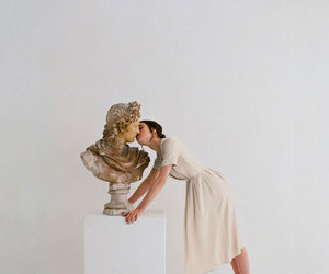 kiss, art, and white image