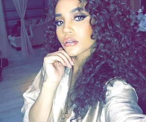 beautiful, makeup, and curly hair image