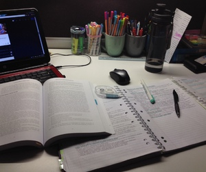 desk, exams, and inspiration image