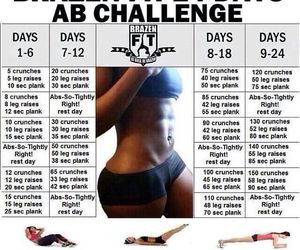 workout, challenge, and abs image