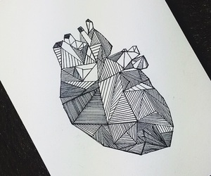 black, drawing, and heart image