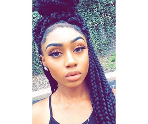 beauty, braids, and eyebrows image