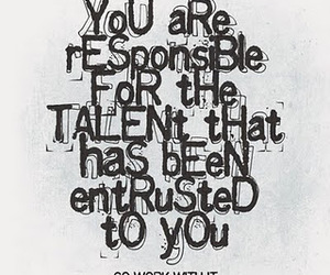 quote, talent, and text image