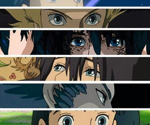 howl's moving castle, anime, and eyes image