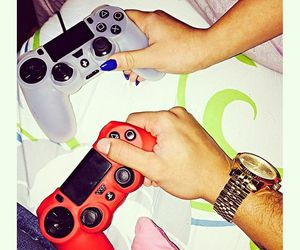 couple, video games, and ps4 image