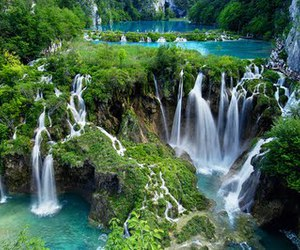 waterfall, nature, and Croatia image