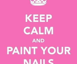 nails, keep calm, and nail polish image