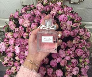 flowers, pink, and perfume image