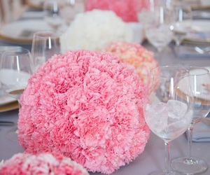 ball, carnation, and centerpieces image