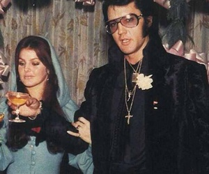 70s, couple, and Elvis Presley image