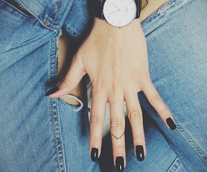 jeans and nails image