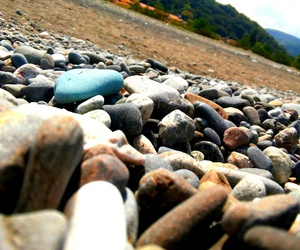 seaside, stones, and summer image