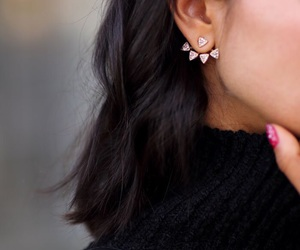 chic, earrings, and fashion image