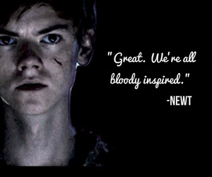bloody, newt, and thomas image