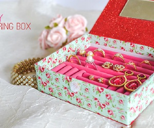 box, diy, and floral image