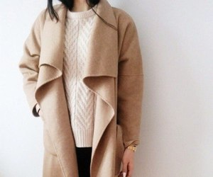 coat, style, and sweater image