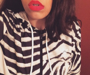 adidas, lip, and red image