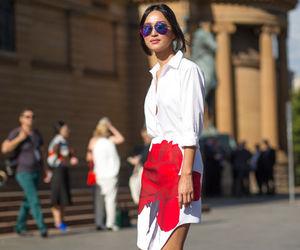 fashion week, model, and street style image