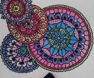 art, mandalas, and colours image
