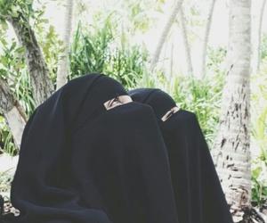 niqab, sisters, and hijab image