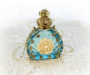 blue, bottle, and perfume image