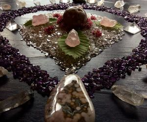 amethyst, quartz, and rose quartz image