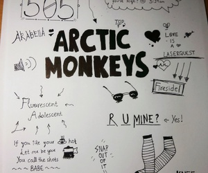 505, arctic monkeys, and black and white image