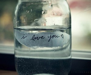 love, I Love You, and water image