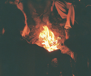 fire, vintage, and night image