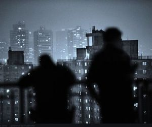 night, city, and people image