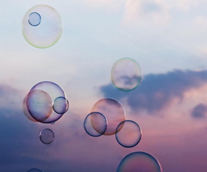 bubbles, sky, and photography image