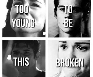 teen wolf, stiles, and broken image