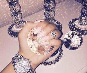 nails, diamond, and luxury image