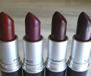mac, lipstick, and autumn image