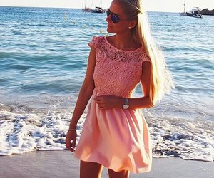 beach, drees, and clothes image