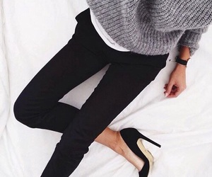 black, jeans, and classy image