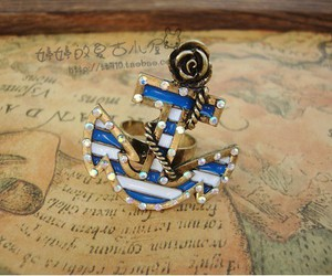 anchor, jewelry, and cool image