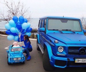 car, blue, and baby image