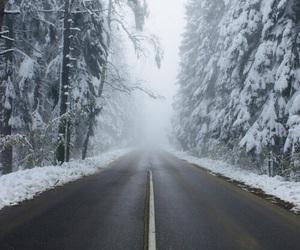 sky, snow, and winter image