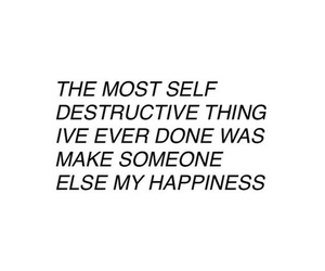 sad, happiness, and quote image
