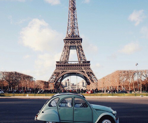 paris, car, and france image